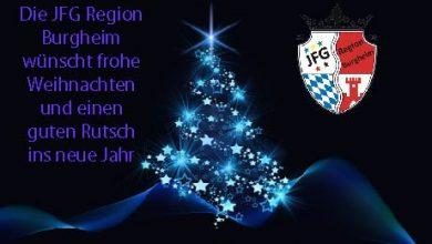 Bild von Frohe Weihnachten und verletzungsfreies 2020 wünscht euch die JFG Region Burgheim